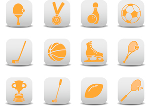 Vector illustration of  icon set or design elements relating to sportsのイラスト素材 [FYI03072831]