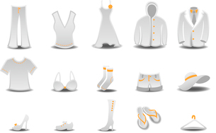 Vector illustration set of fashion  Clothing and Accessories Iconsのイラスト素材 [FYI03072833]
