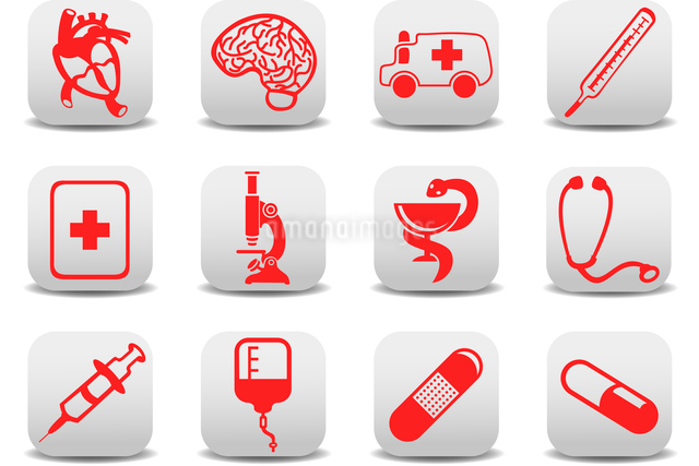 Vector illustration of medicine icons .You can use it for your website, application or presentationのイラスト素材 [FYI03072840]