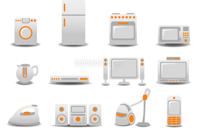 Vector illustration of Household Appliances icons. You can decorate your website, application or preのイラスト素材 [FYI03072844]