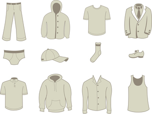 Vector illustration set of fashion  Clothing and Accessories Iconsのイラスト素材 [FYI03072847]
