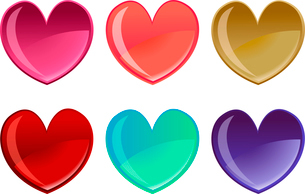 Vector illustration of beautifull hearts icon set. Ideal for Valetine Cards decoration.のイラスト素材 [FYI03072880]