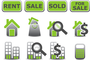 Vector illustration of real estate icons set.You can use it for your website, application or presentのイラスト素材 [FYI03072883]