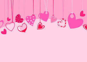 Vector illustration of Valentine's Day background, decorated with beautifull hearts.のイラスト素材 [FYI03072891]