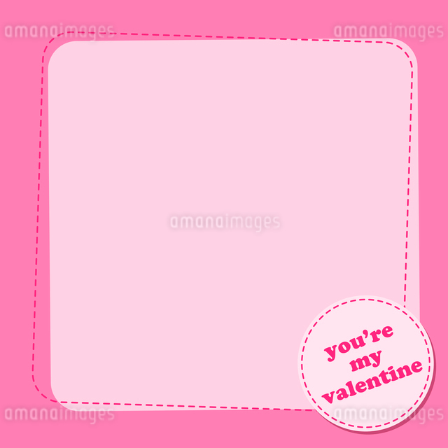 Vector illustration of Valentine's Day background with a blank spase for your text.のイラスト素材 [FYI03072893]