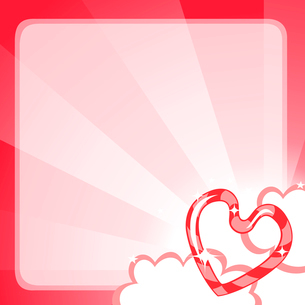 Vector illustration of Valentine's Day background, decorated with beautifull heart.のイラスト素材 [FYI03072895]