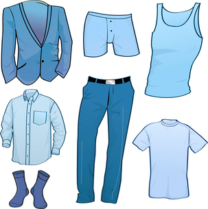 Vector illustration of cool Men clothes icon setのイラスト素材 [FYI03072995]