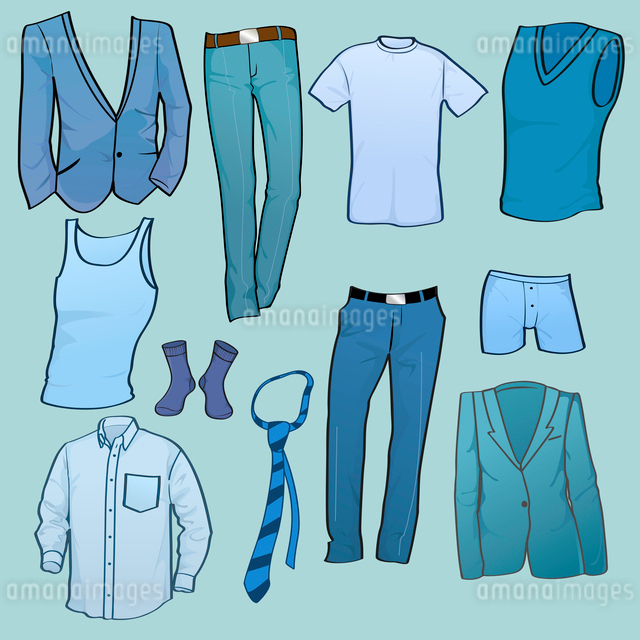 Vector illustration of cool Men clothes icon setのイラスト素材 [FYI03072998]