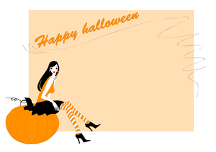 Vector Illustration of  funky invitation to halloween partyのイラスト素材 [FYI03073012]