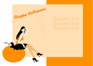 Vector Illustration of funky invitation to halloween partyのイラスト素材 [FYI03073019]