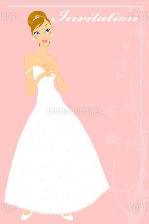 Vector Illustration of beautiful wedding invitation with preety bride.のイラスト素材 [FYI03073032]