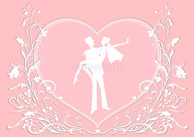 Vector illustration of funky wedding invitation with cool sexy coupleのイラスト素材 [FYI03073042]
