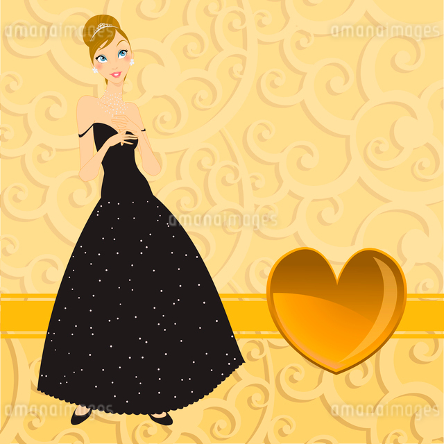 Vector Illustration of beautiful women in the evening dressのイラスト素材 [FYI03073057]