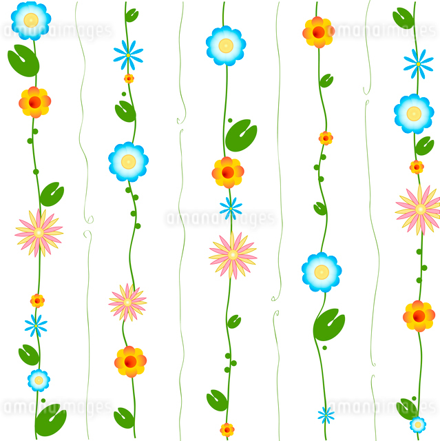 Vector Illustration of Decorative Wind Chimes with floral ornament designのイラスト素材 [FYI03073068]