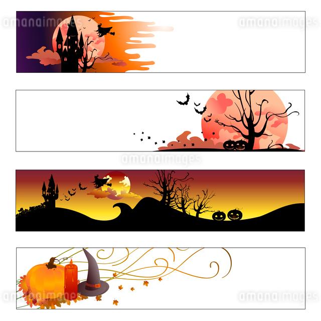 Vector illustration of halloween banners setのイラスト素材 [FYI03073098]