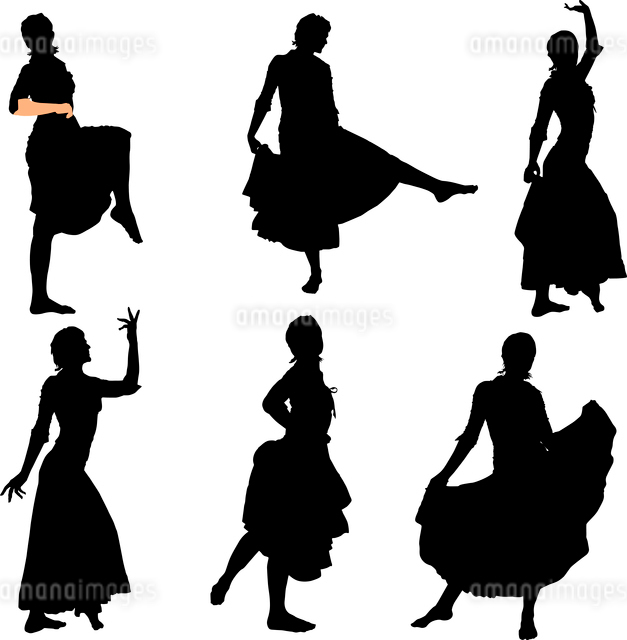 Collection of vector images of dancersのイラスト素材 [FYI03073209]