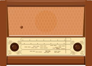 Vector illustration of an old radioのイラスト素材 [FYI03073221]