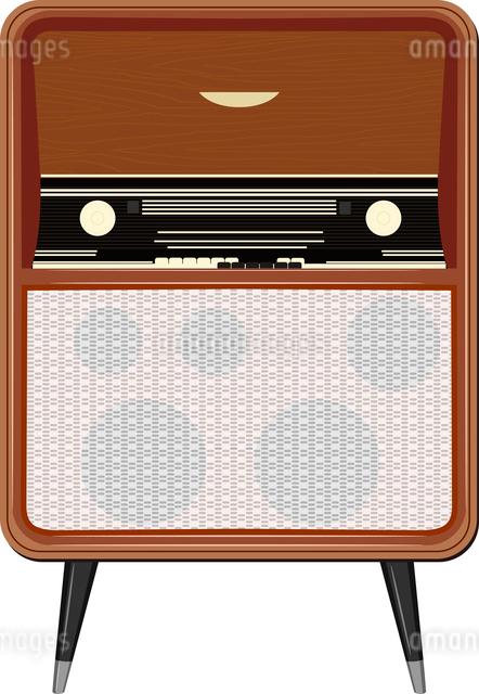 Vector illustration of an old radio on the legsのイラスト素材 [FYI03073222]