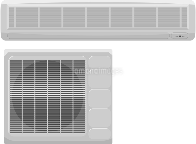 Vector illustration of modern air conditioning on a white backgroundのイラスト素材 [FYI03073225]