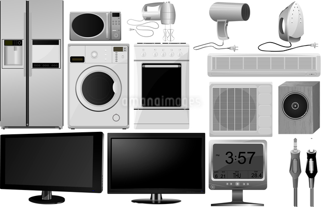 Big collection of vector images of household appliancesのイラスト素材 [FYI03073226]