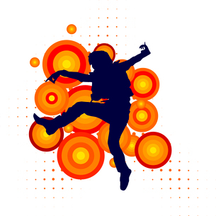 Vector silhouette of a dancerのイラスト素材 [FYI03073243]