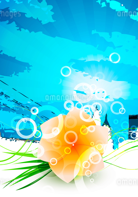 Abstract beautiful flower backgroundのイラスト素材 [FYI03073388]