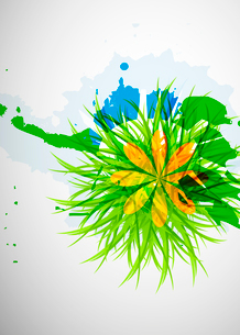 Abstract beautiful flower backgroundのイラスト素材 [FYI03073498]