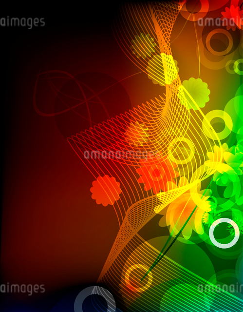 Abstract beautiful flower backgroundのイラスト素材 [FYI03073525]