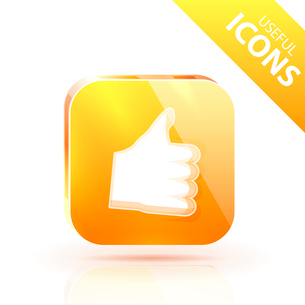 Glossy yellow orange metallic buttonのイラスト素材 [FYI03073653]