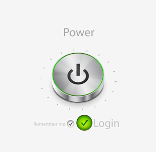 Vector power button. Login pageのイラスト素材 [FYI03073659]