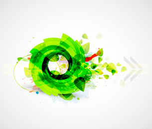 Abstract green swirl nature backgroundのイラスト素材 [FYI03073664]
