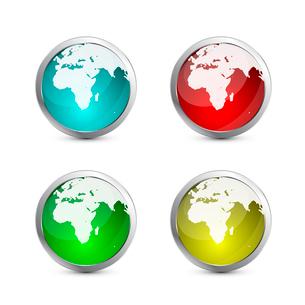 Glass globe iconのイラスト素材 [FYI03073763]