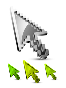 Metallic mouse pointers setのイラスト素材 [FYI03073870]