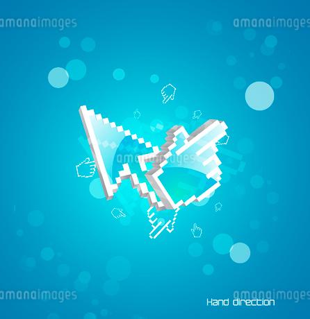 Technol0gy pointers blue backgroundのイラスト素材 [FYI03073938]