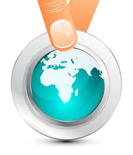 Glass globe iconのイラスト素材 [FYI03073942]