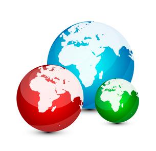 Glass globe iconのイラスト素材 [FYI03073948]
