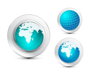 Glass globe iconのイラスト素材 [FYI03073953]