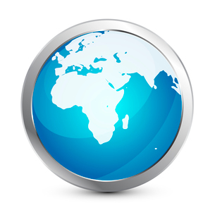 Glass globe iconのイラスト素材 [FYI03074085]