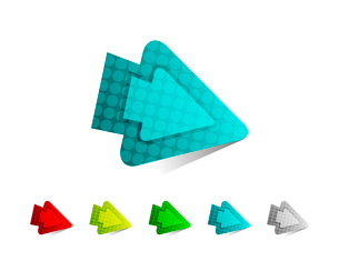 Vector arrow pointerのイラスト素材 [FYI03074296]