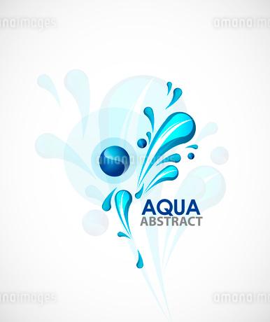 Aqua backgroundのイラスト素材 [FYI03074474]