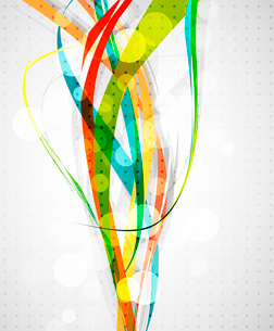 Abstract color lines. Vector backgroundのイラスト素材 [FYI03074550]
