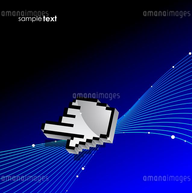 Hi-tech hand pointer backgroundのイラスト素材 [FYI03074562]