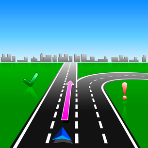map navigator city streets gps with signsのイラスト素材 [FYI03074569]
