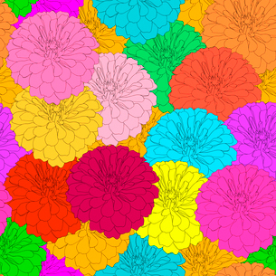 Seamless  background with flower. Could be used as seamless wallpaper, textile, wrapping paper or baのイラスト素材 [FYI03074576]