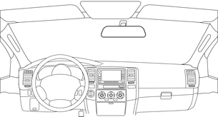 The car without a driver on the road.のイラスト素材 [FYI03074625]