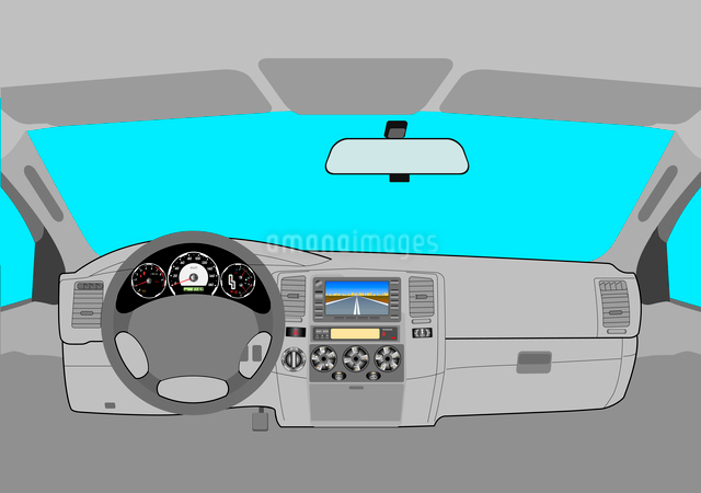 The car without a driver on the road.のイラスト素材 [FYI03074626]