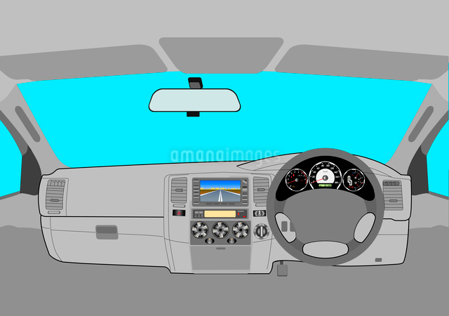 The car without a driver on the road.のイラスト素材 [FYI03074666]