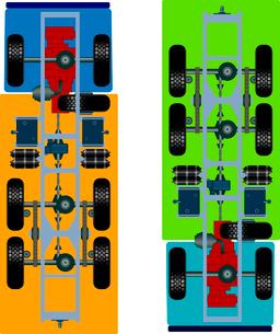 truck suspension, top view. Vector Illustrationのイラスト素材 [FYI03074667]