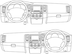 The car without a driver on the road.のイラスト素材 [FYI03074671]