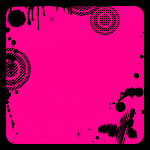 Grunge  background with black frame from dirtyのイラスト素材 [FYI03074722]